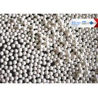 China 65 Zirconium Ceramic Grinding Balls 0.6 - 0.8mm Size White / Milky White Color wholesale