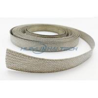 Metal Cable Shielding Sleeve , Automotive Braided Wire Loom Flame Retardant