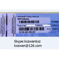 Quality Microsoft windows 7 home premium Product coa Sticker label for HP OEM software for sale