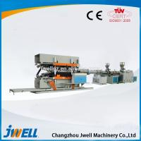 China Jwell HDPE/P6P/PVC Vertical Type Double Wall Corrugated Pipe and PVC Ribbed Pipe Extrusion Line wholesale