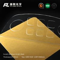 China 4mm High Gloss Scratch Resistant Acrylic Sheet Pass R.C.A Test , Innovative Coating Ability wholesale