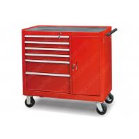 China Rolling Metal Lockable Tool Cabinet 6 Drawer Solid Steel Welded Construction wholesale