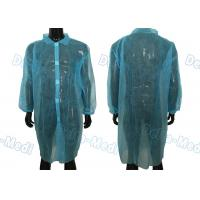 China Blue Disposable Isolation Gowns Non Toxic Blood Resistance With 5 Velcro In Front wholesale