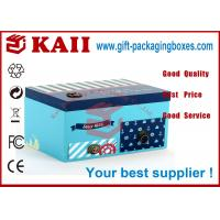 China Handmade Blue Gift Packaging Boxes With Lids , Glossy PP / Matt PP wholesale