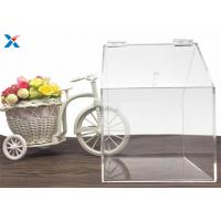 China House Shape Clear Acrylic Gift Boxes Candy Container Non Toxicity For Retail Store on sale