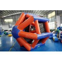 China 0.9mm PVC Tarpaulin Colorful Inflatable Water Roller  For Water Games wholesale