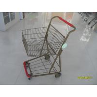 China 40L Folding Grocery Shopping Trolley Q195 Low Carbon Steel For Supermarket wholesale