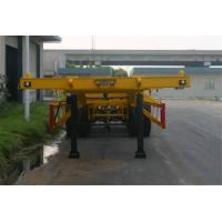 China Steel 2 Axles Tank Container Trailer Chassis / 20 Foot Container Chassis on sale