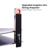 China Anti Protection USB Rechargeable Lighter , Custom Dual Arc Usb Lighter wholesale