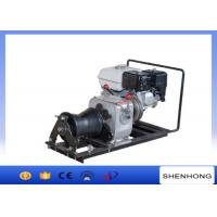 China 10KN Belt Driven Steel Cable Powered Pulling Winch With HONDA Gasoline Engine wholesale