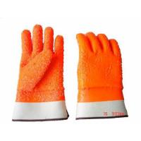 China Fluorescent PVC Working Gloves--Chip Finish on sale