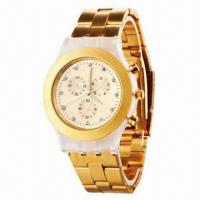 China New Fashionable Metal Watch, Stainless Steel Strap, Alloy Case, Japan Quartz Movement/Chronograph wholesale
