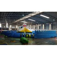 China Giant Inflatable Water park Suit with White Shark Water Slide and float toys wholesale