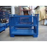 Buy cheap Galvanized Steel Stacking Pallets Electrostatic Powder Coating Blue Grey Color from wholesalers