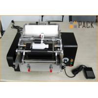 China Semi-automatic glue labeling machine for glass bottles on sale