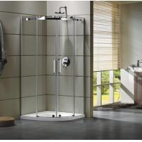 China Semi - Frameless Curved Glass Shower Door Enclosures For Bathroom 100 X 100 X 195 cm wholesale