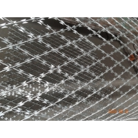 China Silver Industrial 100x150 BTO-18 Welded Razor Mesh For Fence Protect wholesale