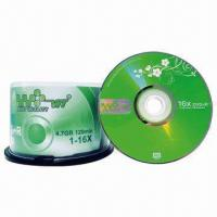 China 16 x 4.7GB/120 Minutes Blank DVD+R Disc with Cake Box Packing wholesale