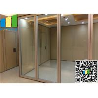 China Sliding Aluminum Glass Partition Wall , 10mm Tempered Glass Wall Partition on sale