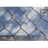 China AISI 304 Woven Stainless Steel Wire Mesh Netting | Flexible Wire Rope Mesh wholesale