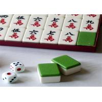 China Blue / Green Back  Mahjong Tiles Mahjong Cheating Devices With IR Marks For Cheating wholesale