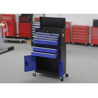 China Metal Garage Tool Chest Cabinet Combo On Wheels With Two Doors And 6 Drawers wholesale