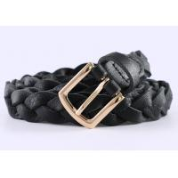 China Durable Braided Girls Leather Belt In Brown Color And Black Color High Fashion wholesale