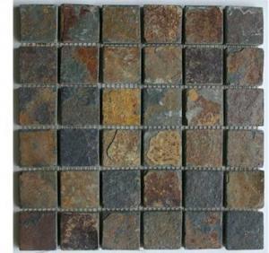China mosaic slate stone tile sheets wholesale