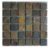 Buy cheap mosaic slate stone tile sheets from wholesalers