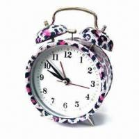 China Alarm Clock with Leopard Pattern Design Printing, Customized Logos and Dials are Accepted wholesale