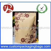 China Vertical aluminum foil lined kraft paper bag wholesale