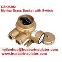 China 10A/16A marine 3 pin double socket and rotating switch for boat CZKH209 IP56 wholesale