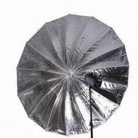 China 16 Rib Parabolic Umbrellas With Fiber Rods, Available in Black and Silver wholesale