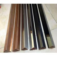 China Hotel black titanium stainless steel curved lines , rose gold edging strip baseboard wholesale