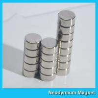 China N35 8 X 3mm Round Ndfeb Disc Magnet / Strong Disk Magnets For Souvenir wholesale