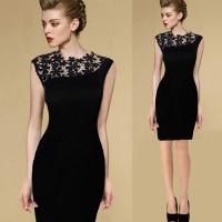 China New Sexy Casual Lace Sleeveless Party Evening Cocktail Short Fashion Women Dress wholesale