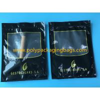 China SGS Black Moisturizing Bag Can Hold  4-6 / Cigar Bags With Transparent Window wholesale