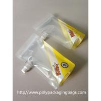 Clear plastic Stand Up Water container pouch with spout W13 x L27cm