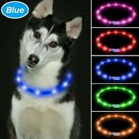 China TPU Cuttable LED Dog Collar USB Rechargeable , LED Reflective Dog Collar 6 Colors Available wholesale