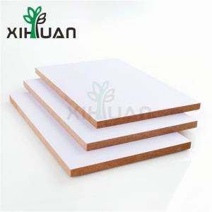China White Melamine MDF From China Factory Melamine MDF Slatwall Panel Fiber Board MDF Manufacturer wholesale
