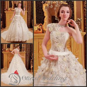 China White Long Train Wedding Dresses wholesale
