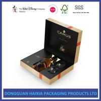China Exquisite Red Wine Decorative Paper Boxes Custom Printing Large Inner Capacity wholesale