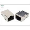 China Gigabit Surface Mounting Magnetic Modular Jacks Side Entry Brass Shielded Shell wholesale