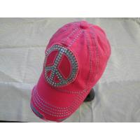 Buy cheap 6 Panel Red Ladies Golf Caps 100% Cotton , Sports Cute Baseball Caps from wholesalers