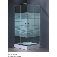 6m door thickness Corner Shower Enclosures square shower stall stripe glass Manufactures