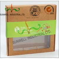 China Rigid Kraft Paper Cardboard Food Packaging Boxes With Art Paper Wraped Finished on sale