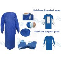 China SMS Disposable Surgical Gown With Knitted Cuff Environmentally Friendly wholesale