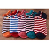China red and white striped socks on sale