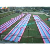 China 400m Three Lane Splash Outdoor Inflatable Water Slides  for Crazy Custom on sale