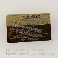 China Customized metal business cards print etched metal cards in mass production wholesale